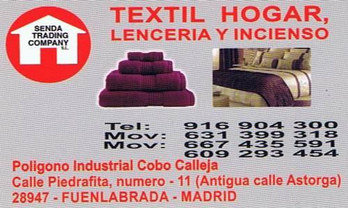 Jaulas Decoracion Cobo Calleja ~ SENDA TRADING COMPANY TEXTIL HOGAR  Tiendas Pol?gono Cobo Calleja