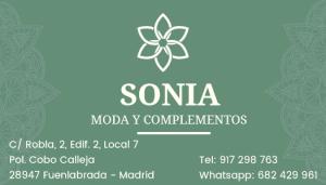 Tarjeta Sonia Moda